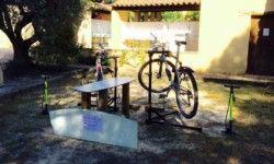 Camping Les Verguettes - Espace réparation vélo