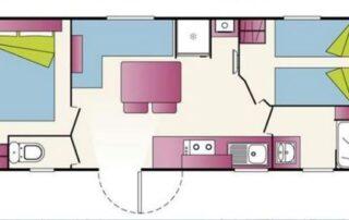 Mobil-home Roller - Plan